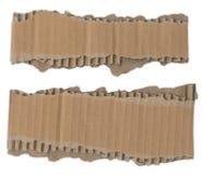 Tiras de cartão rasgadas Foto de Stock Royalty Free