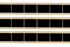 Tiras de la película Foto de archivo