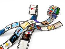 Tiras de la película con imágenes Imagen de archivo libre de regalías