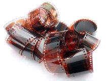 Tiras de la película de color Fotografía de archivo libre de regalías