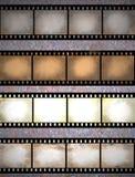 Tiras de la película de Grunge Fotografía de archivo libre de regalías