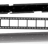 Tiras de la película de película del vector Imagenes de archivo