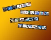 Tiras de la película del asunto Foto de archivo libre de regalías