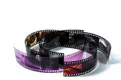 Tiras de la película del rizo Imagenes de archivo