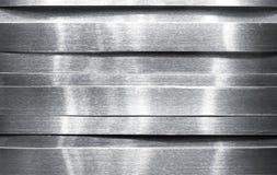 Tiras de metal brillantes Imágenes de archivo libres de regalías