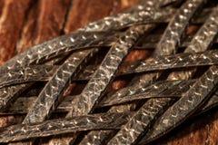 Tiras de metal trenzadas con las escalas fotografía de archivo libre de regalías