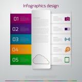 Tiras de papel del infographics del ejemplo del vector Libre Illustration