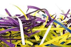 Tiras de papel destrozadas Fotos de archivo libres de regalías
