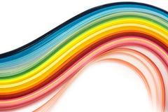 Tiras de papel quilling do arco-íris foto de stock royalty free