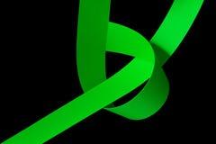 Tiras de papel verdes Foto de Stock