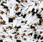Tiras de prueba gastadas Fotos de archivo libres de regalías