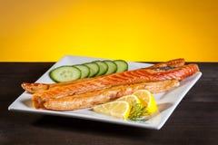Tiras de salmón ahumado Fotografía de archivo libre de regalías