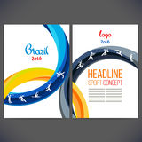 Tiras do projeto do molde do vetor de anéis e de ondas coloridos Imagem de Stock Royalty Free