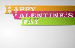Tiras felices del día de tarjetas del día de San Valentín Imagen de archivo