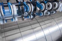 Tiras galvanizadas del acero Imagen de archivo libre de regalías