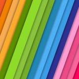 Tiras inclinados do vetor com teste padrão colorido do fundo do sumário da sombra na tampa moderna da juventude das cores alaranj ilustração stock
