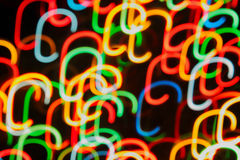 tiras Multi-coloridas da luz Fotografia de Stock
