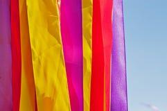 tiras Multi-coloridas das fitas Imagens de Stock
