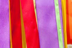 Tiras multicoloras de cintas Imágenes de archivo libres de regalías