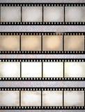 Tiras rasguñadas vendimia de la película Imágenes de archivo libres de regalías