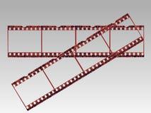 Tiras transparentes de la película Fotos de archivo