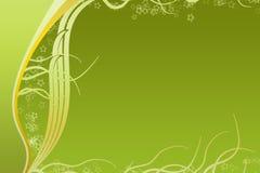 Tiras verdes y amarillas de la curva Fotos de archivo libres de regalías