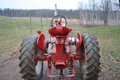 Tirata del trattore Fotografia Stock