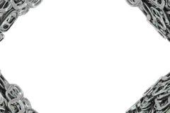 Tirata dell'anello del metallo della pagina per l'apri di latta isolato su bianco Fotografie Stock Libere da Diritti