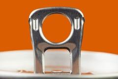 Tirata dell'anello della latta di alluminio Fotografia Stock