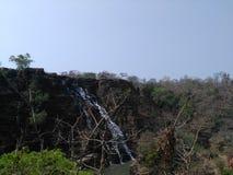 Tirathgarh vattenfall som är bastar, chattisgarh Fotografering för Bildbyråer