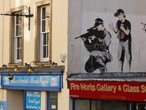 Tiratore della polizia da Banksy Fotografia Stock