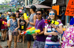 Tiratori di Songkran Fotografia Stock Libera da Diritti