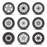 Tire. Layered vector illustration of different tire Royalty Free Stock Image