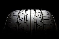 Tire. Brand new sport car tire close up - Bridgestone potenza Stock Image