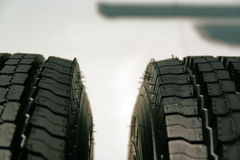 Tire. Brand new truck tire. Truck tire Stock Photography