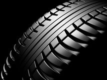 Tire. On a black background Stock Photo