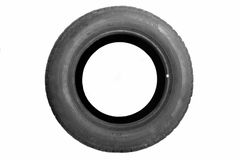 Tire. Car tire isolated on white background Royalty Free Stock Photo