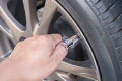 Tire air pressure Stock Image