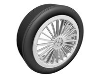 Tire with alloy rim Stock Photos