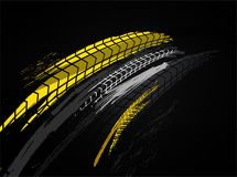 Tire Background Image. Vector automotive banner template. Grunge tire tracks background for landscape poster, digital banner, flyer, booklet, brochure and web vector illustration