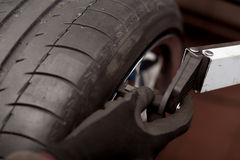 Tire balance Royalty Free Stock Photography