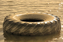 Tire of the big truck Royalty Free Stock Photography