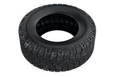 Tire black dirt. Tire black rubber dirt vehicle. 3D rendering Royalty Free Stock Photo