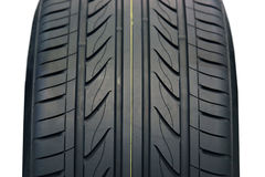 Tire. Black Rubber Tire, on the white backgrounds Royalty Free Stock Photo