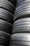 Tire black. Tires are stacked together Stock Photography