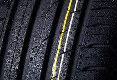 Tire black Stock Photo