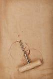 Tire-bouchon avec des taches de vin rouge Image libre de droits
