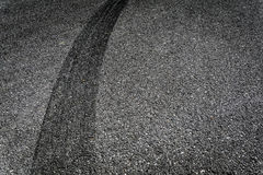 Tire Break. On Old Asphalt Royalty Free Stock Images