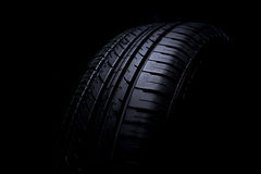 Tire Car on black background Stock Image