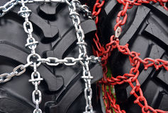 Tire chain Stock Images